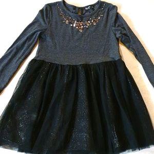 Size 5 Bardot junior black and grey dress